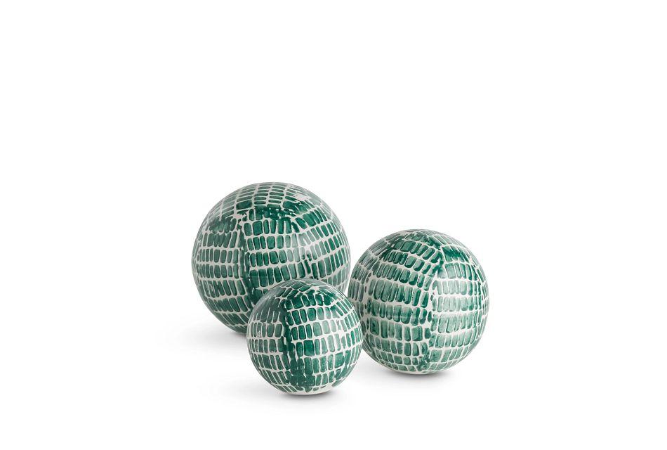 Maia Set Of 3 Green Balls