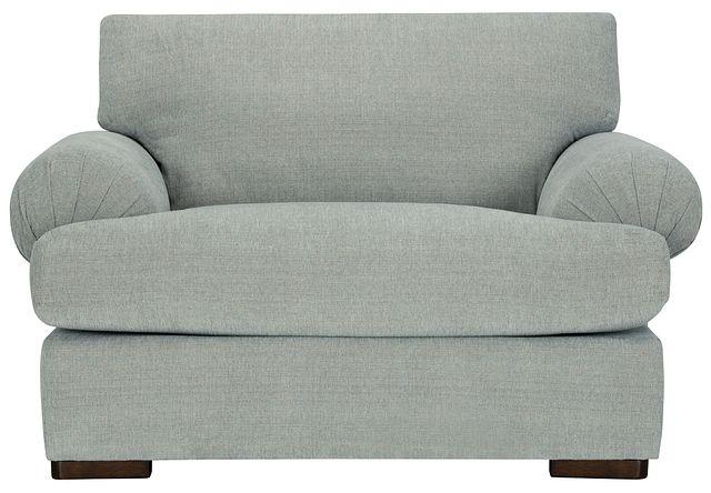 Belair Light Blue Fabric Large Chair (1)