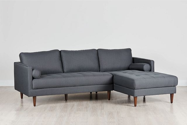 Rue Gray Fabric Right Chaise Sectional (0)