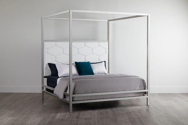 Cortina White Canopy Bed (3)