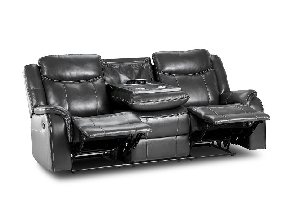 Lowe Dark Gray Micro Reclining Sofa