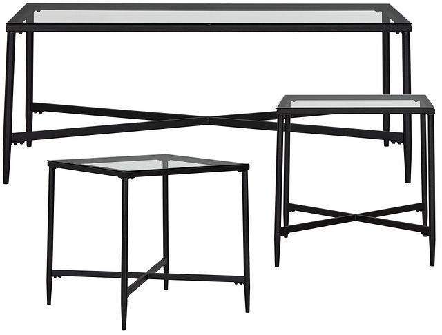 Augeron Glass 3 Pack Tables (2)