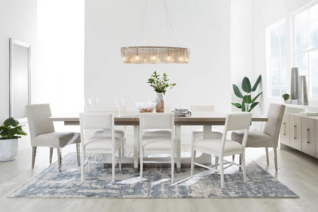 Marley Light Tone Rect Table & 4 Chairs (1)