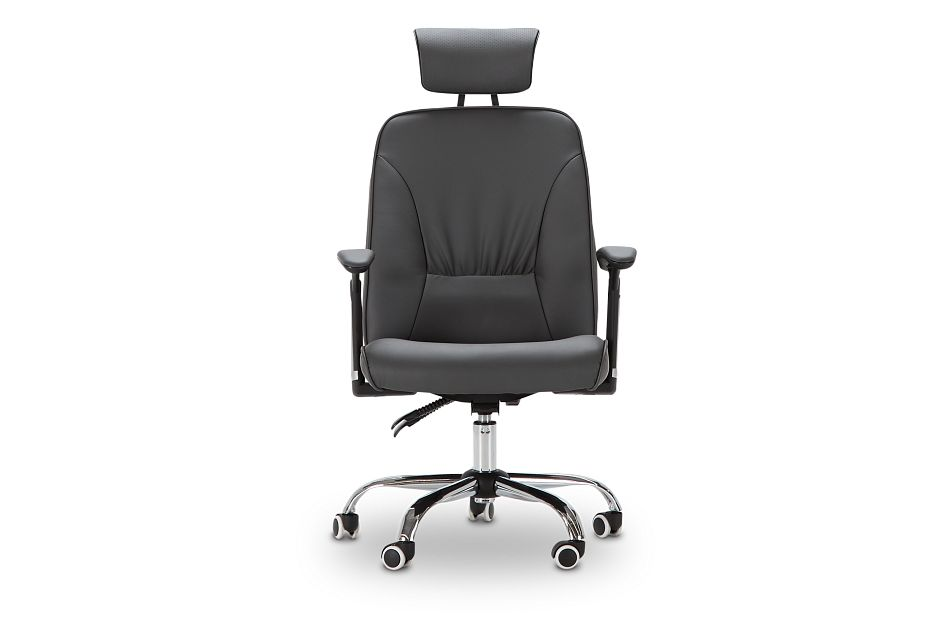 Aurora Gray Uph Desk Chair, %%bed_Size%% (3)