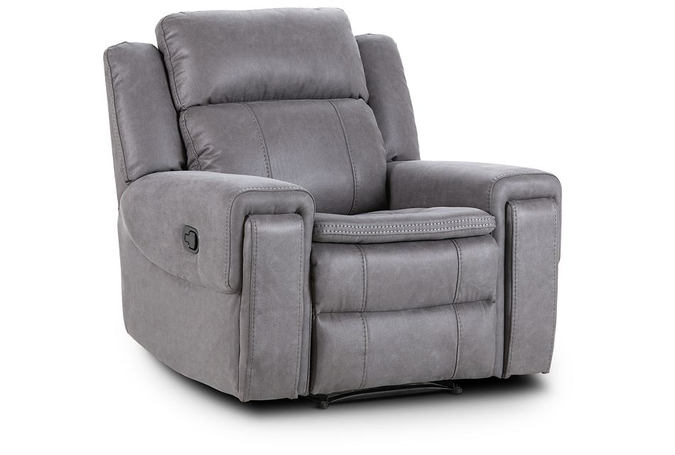 Scout Gray Micro Recliner