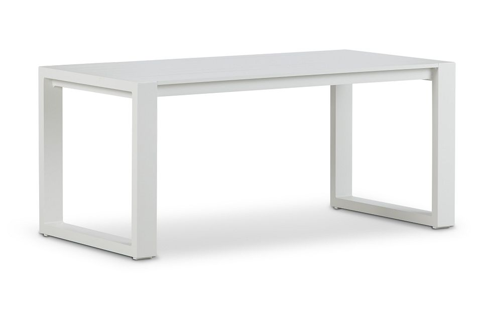 Linear White Aluminum Coffee Table