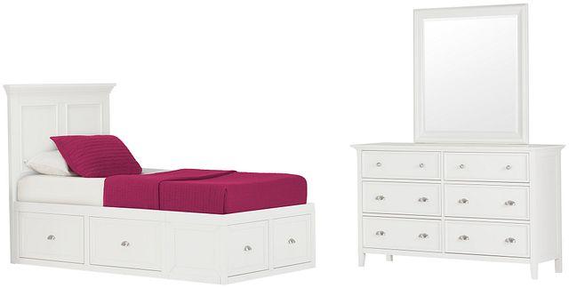 Spencer White 4-drawer Platform Storage Bedroom (1)