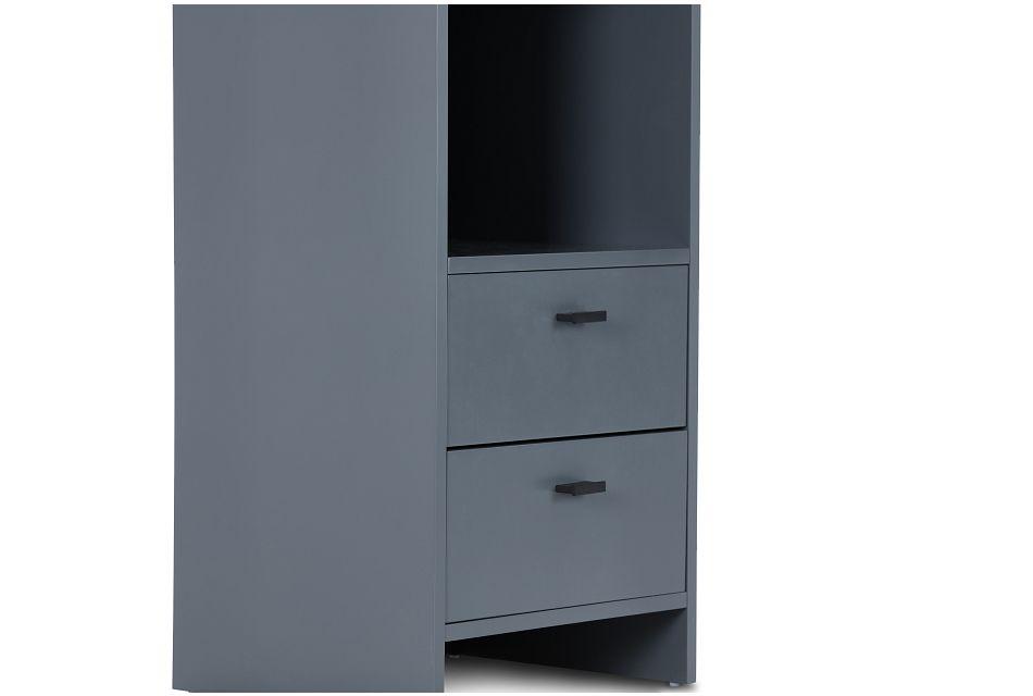 Delray Dark Gray Open Bookcase