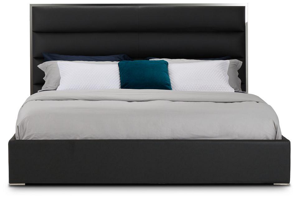 Cortina Gray Uph Platform Bed, King (3)