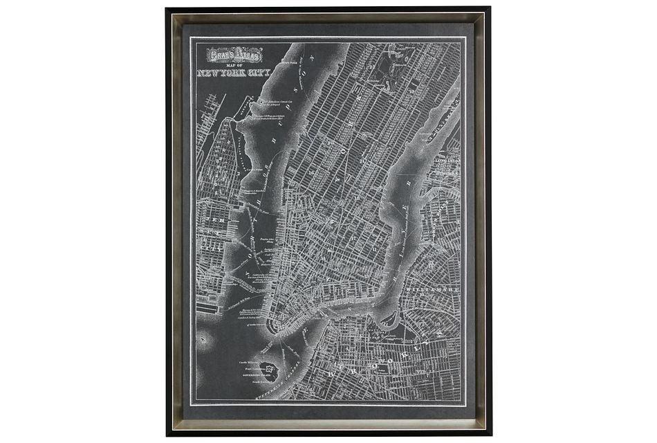 New York Black Framed Wall Art