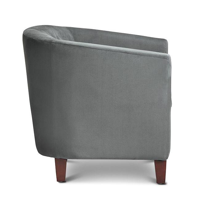 Concord Dark Gray Velvet Accent Chair (2)