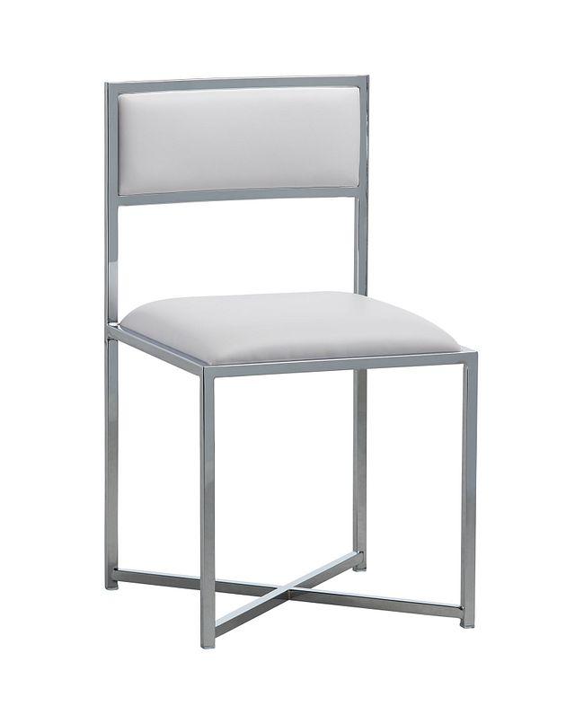 Amalfi White Stnl Steel Side Chair (0)