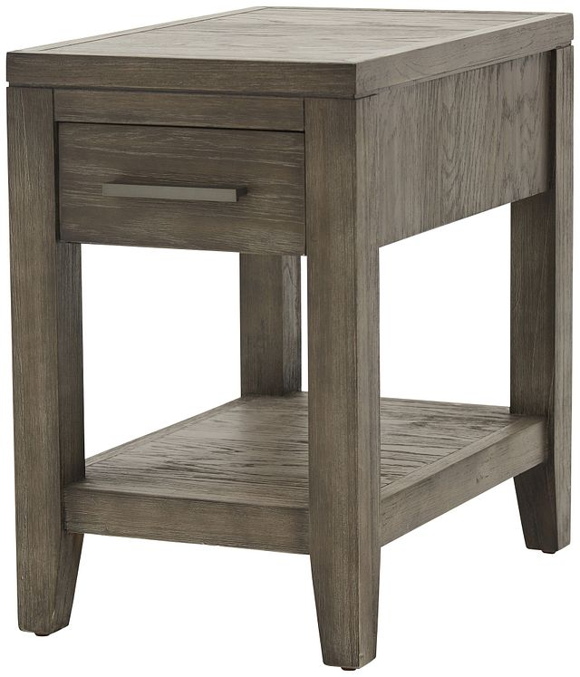 Bravo Dark Tone Square Chairside Table (1)