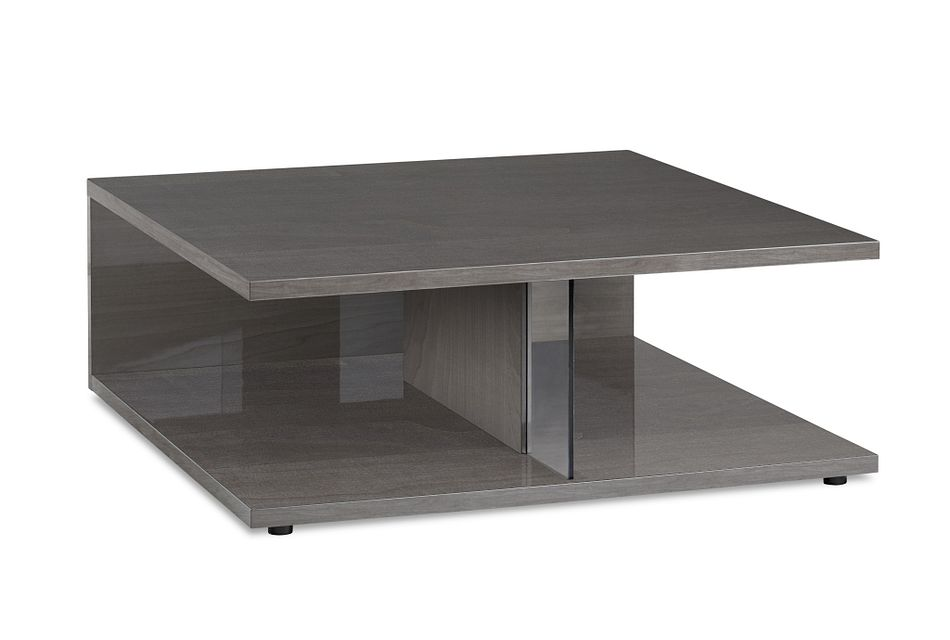 Athena Dark Gray Square Coffee Table