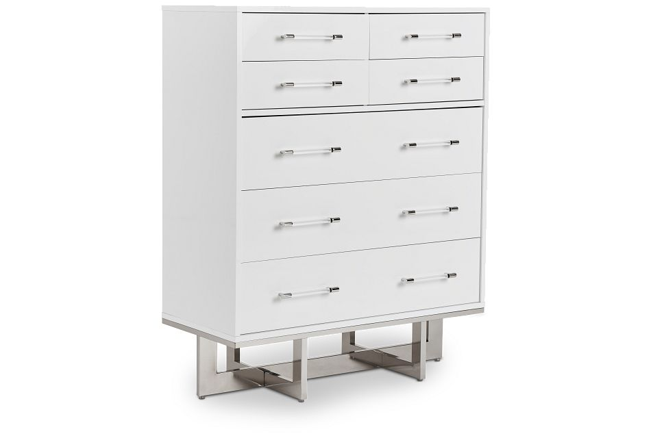 Cortina White Large Drawer Chest, One/size (2)
