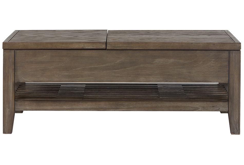 Bravo Dark Tone Rect Lift Coffee Table