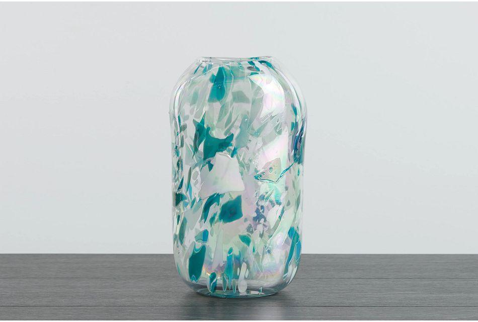 Poppy Teal Vase