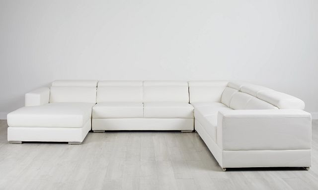 Maxwell White Micro Large Left Chaise Sectional (0)