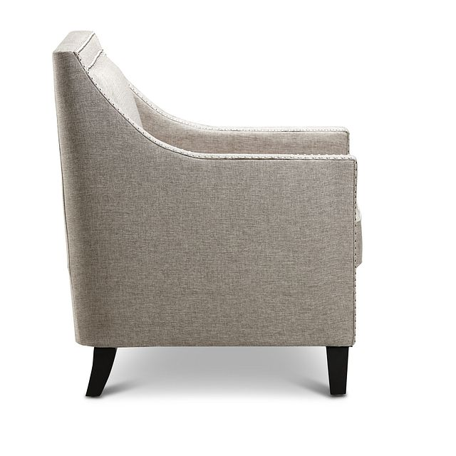 Erica Gray Fabric Accent Chair (2)
