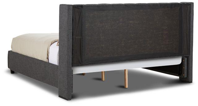 Chatham Dark Gray Low Platform Storage Bed