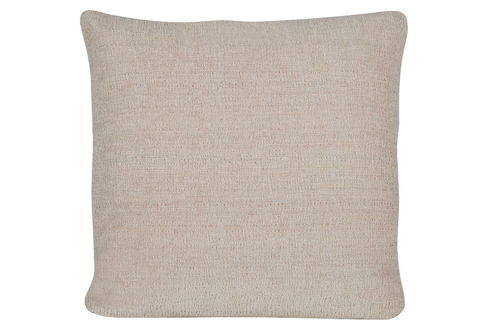 Belair Light Taupe Fabric Square Accent Pillow