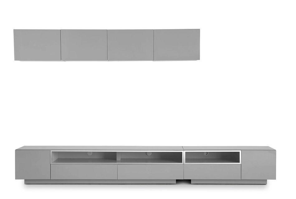 "Vancouver Gray 134"" 6-piece Left Modular Entertainment Wall"