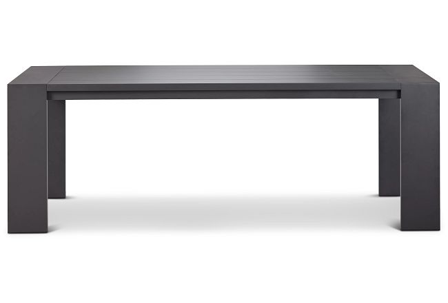 "Linear Dark Gray 87"" Rectangular Table"