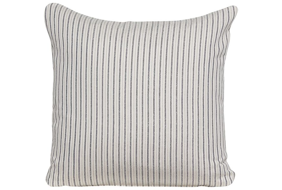 Holywell Blue Stripe Square Accent Pillow