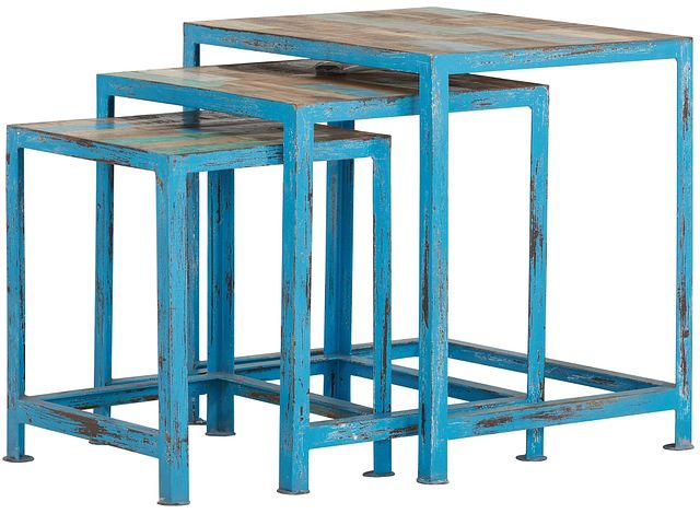 Elle Blue Set Of 3 Nesting Tables (0)
