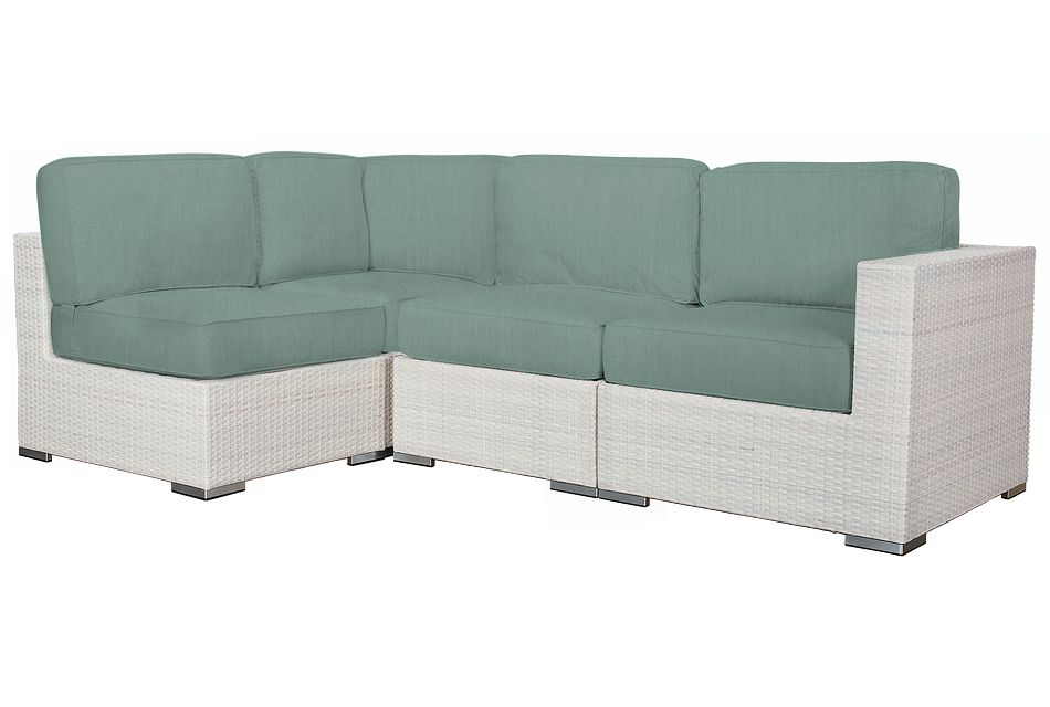 Biscayne Teal 4-piece Modular Sectional
