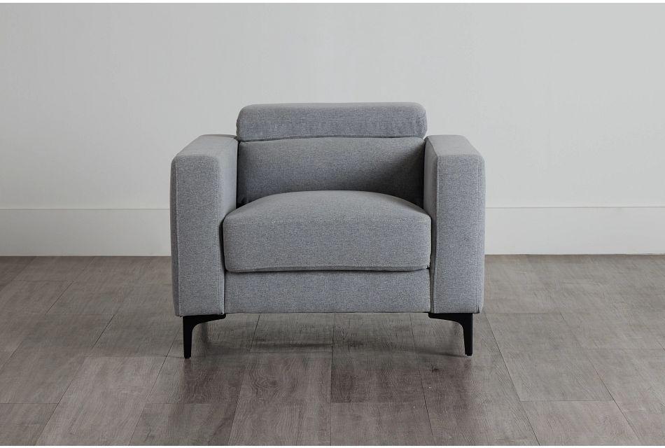 Trenton Light Gray Fabric Chair,  (0)