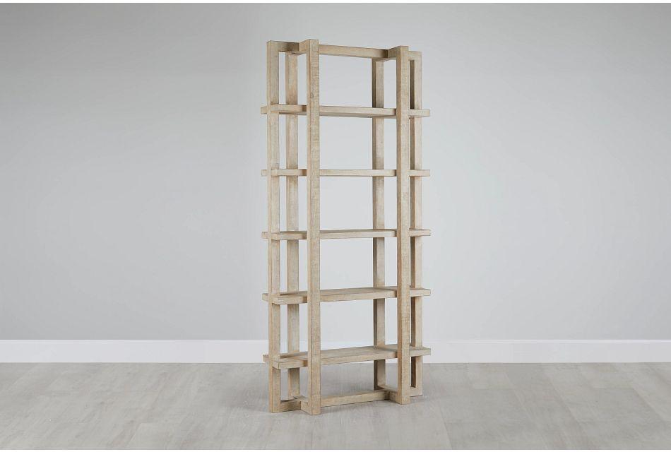 Hancock Light Tone Wood Bookcase