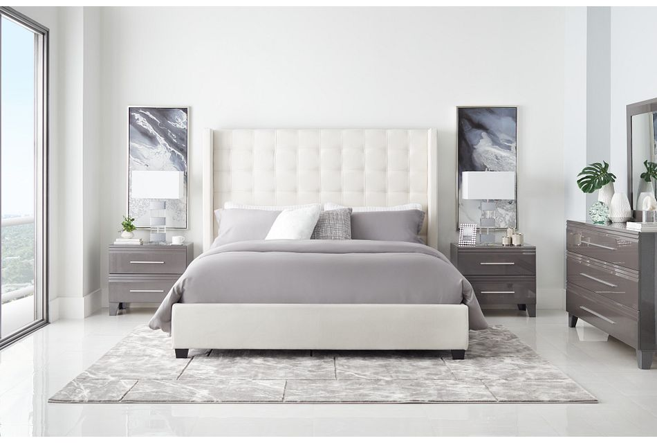 Marco White Uph Platform Bed