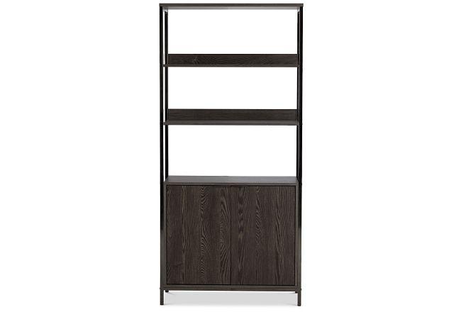 """Fisher Black 32"""" Door Bookcase"""