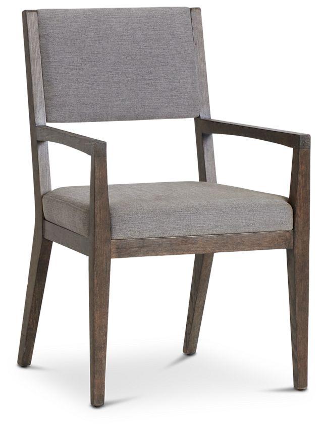 Linea Dark Tone Arm Chair (1)
