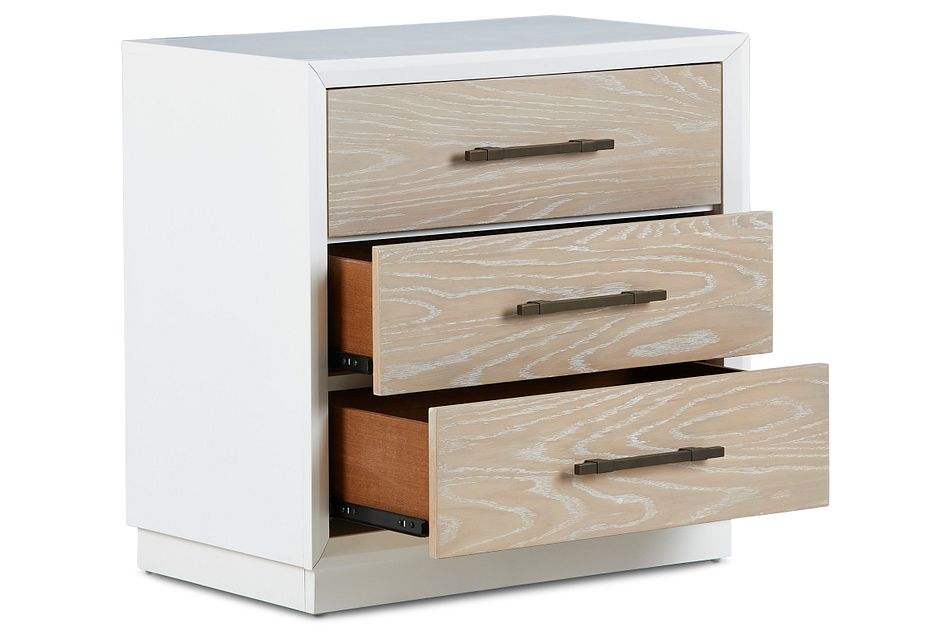 Boca Grande Two-tone 3-drawer Nightstand