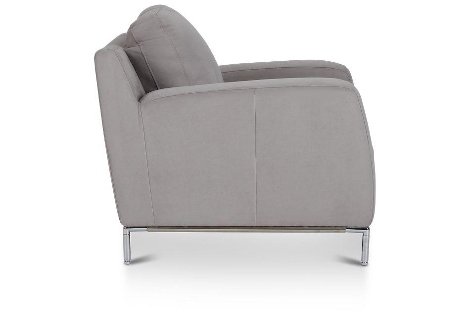Wynn Light Gray Micro Chair,  (3)