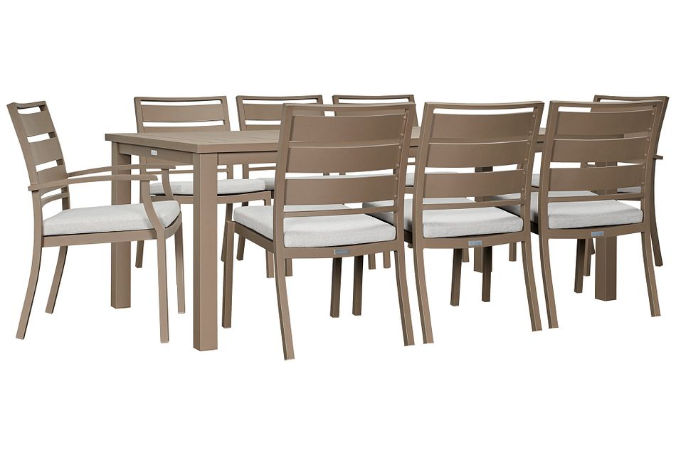 """Raleigh Gray 81"""" Rectangular Table & 4 Cushioned Chairs,  (1)"""