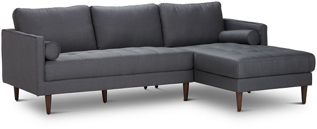 Rue Gray Fabric Right Chaise Sectional (2)