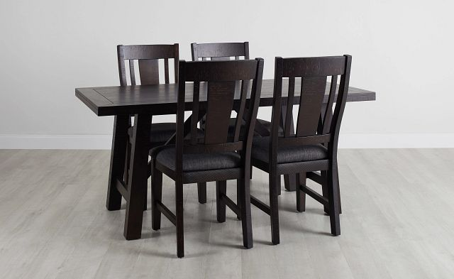 Cash Gray Rect Table & 4 Upholstered Chairs (0)