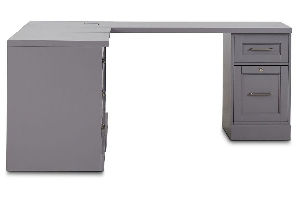 Newport Gray L Desk,  (3)