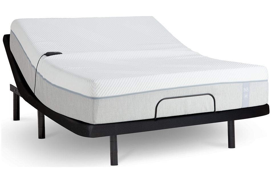 "Rest & Renew Cooling Memory Foam 12""  Gold Adjustable Mattress Set"