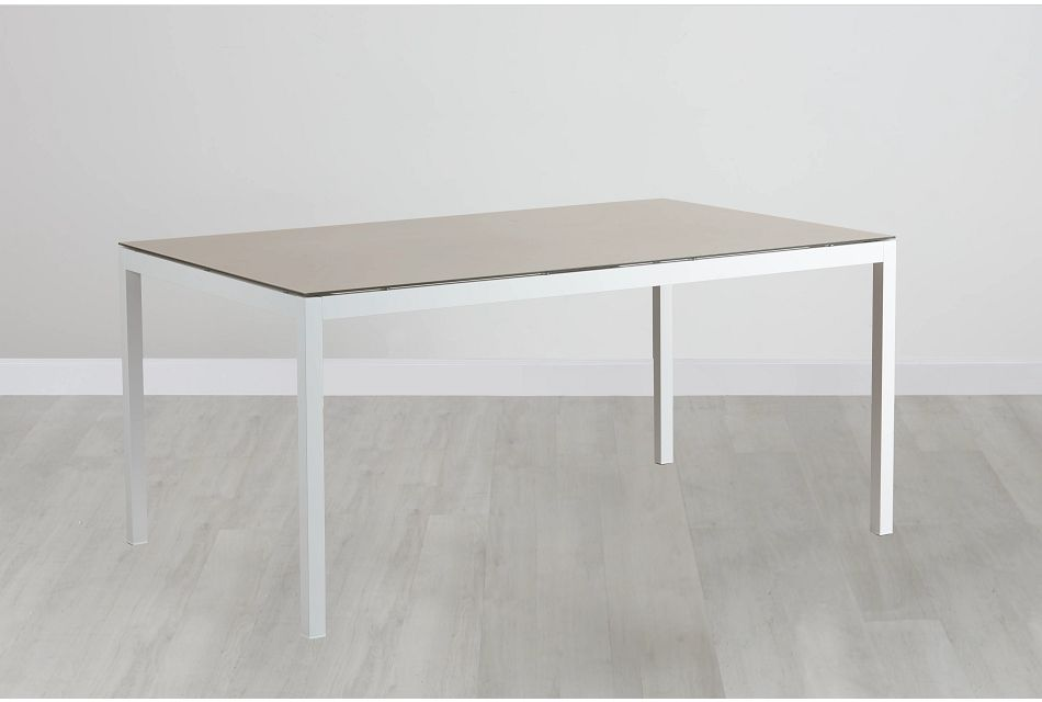 "Aventura Champagne 63"" Rectangular Table,  (0)"