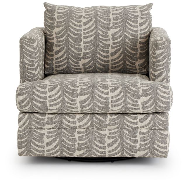 Bianca Gray Fabric Swivel Accent Chair (3)