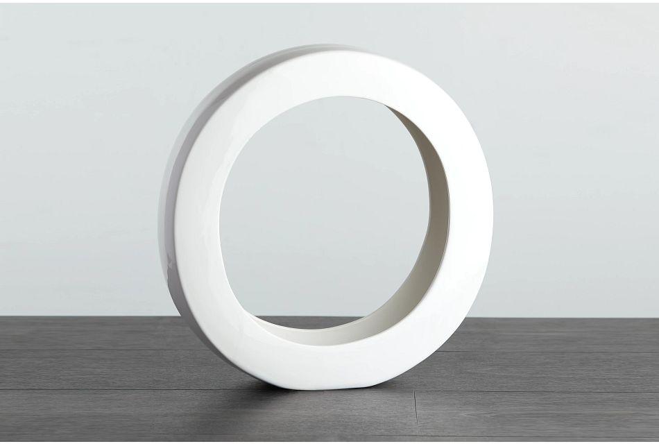 Oliver White Round Vase