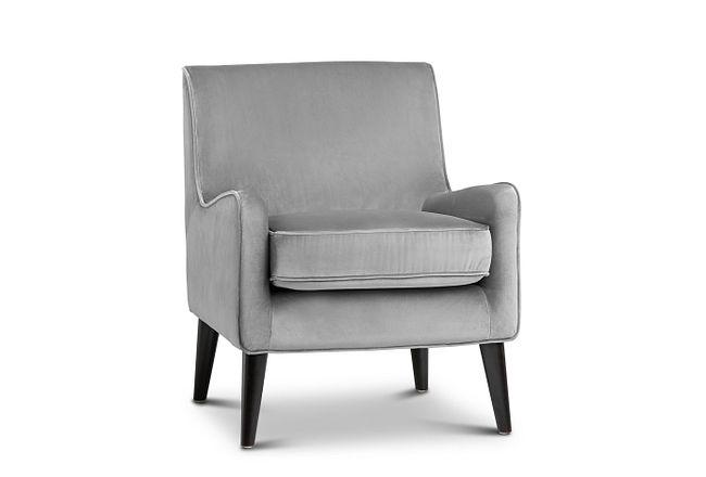 Angie Dark Gray Velvet Accent Chair