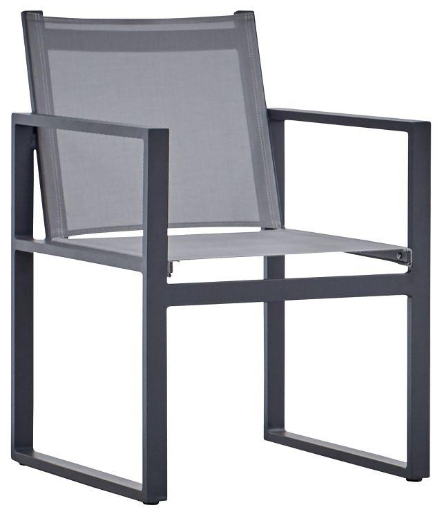 Linear Dark Gray Sling Arm Chair (0)