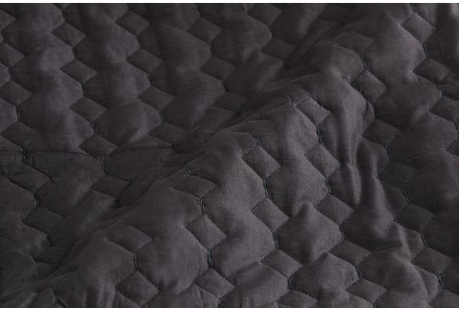 Urban Mesh Dark Gray 3 Piece Coverlet Set