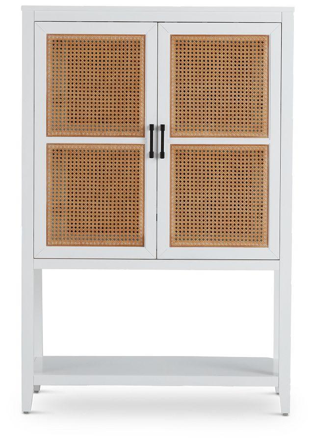 Nantucket Two-tone Woven Bar Cabinet (1)