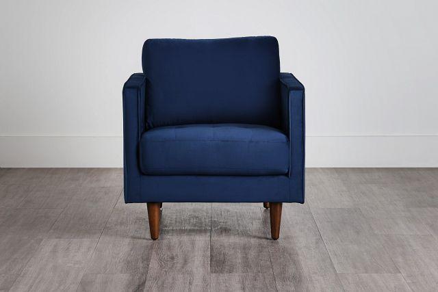 Luna Dark Blue Velvet Chair (0)